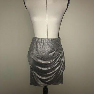 NWT Armani Exchange Silver Metallic Bodycon Skirt